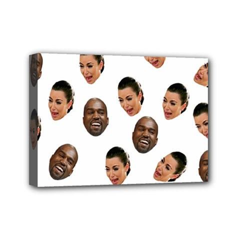 Crying Kim Kardashian Mini Canvas 7  X 5