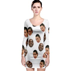 Crying Kim Kardashian Long Sleeve Bodycon Dress