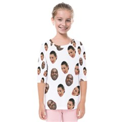 Crying Kim Kardashian Kids  Quarter Sleeve Raglan Tee