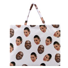 Crying Kim Kardashian Zipper Large Tote Bag