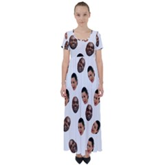 Crying Kim Kardashian High Waist Short Sleeve Maxi Dress