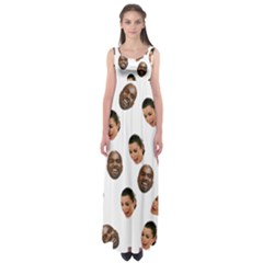 Crying Kim Kardashian Empire Waist Maxi Dress