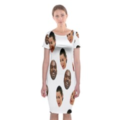 Crying Kim Kardashian Classic Short Sleeve Midi Dress