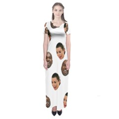 Crying Kim Kardashian Short Sleeve Maxi Dress