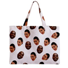 Crying Kim Kardashian Zipper Medium Tote Bag