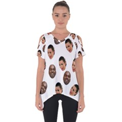 Crying Kim Kardashian Cut Out Side Drop Tee
