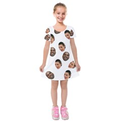 Crying Kim Kardashian Kids  Short Sleeve Velvet Dress
