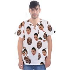 Crying Kim Kardashian Men s V Neck Scrub Top