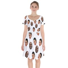 Crying Kim Kardashian Short Sleeve Bardot Dress