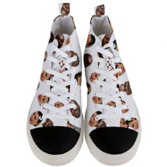 Crying Kim Kardashian Men s Mid Top Canvas Sneakers