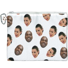 Crying Kim Kardashian Canvas Cosmetic Bag (xxxl)