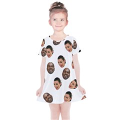 Crying Kim Kardashian Kids  Simple Cotton Dress
