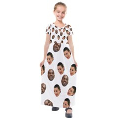 Crying Kim Kardashian Kids  Short Sleeve Maxi Dress