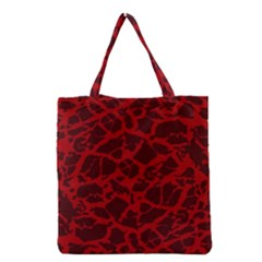 Red Earth Texture Grocery Tote Bag by LoolyElzayat