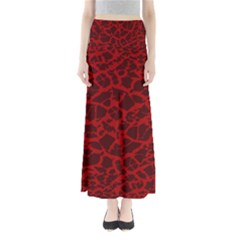 Red Earth Texture Full Length Maxi Skirt