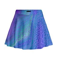 Marble Shades Elephant Texture Mini Flare Skirt