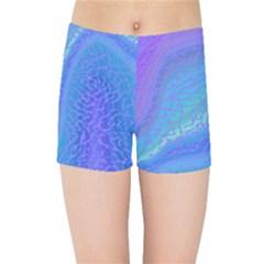 Marble Shades Elephant Texture Kids Sports Shorts