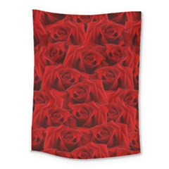 Romantic Red Rose Medium Tapestry by LoolyElzayat