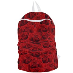 Romantic Red Rose Foldable Lightweight Backpack by LoolyElzayat