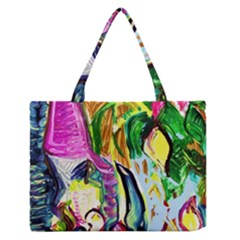 Lilac And Lillies 2 Zipper Medium Tote Bag