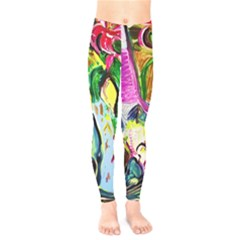 Lilac And Lillies 2 Kids  Legging