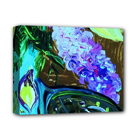 Lilac And Lillies 1 Deluxe Canvas 14  X 11  by bestdesignintheworld