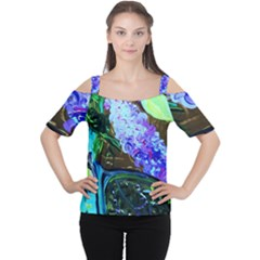 Lilac And Lillies 1 Cutout Shoulder Tee