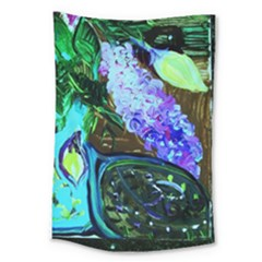 Lilac And Lillies 1 Large Tapestry by bestdesignintheworld