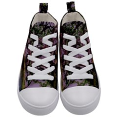 Hot Day In Dallas 31 Kid s Mid Top Canvas Sneakers