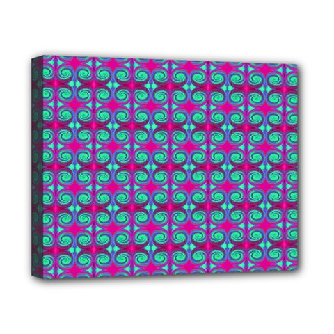 Pink Green Turquoise Swirl Pattern Canvas 10  X 8
