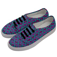 Pink Green Turquoise Swirl Pattern Men s Classic Low Top Sneakers by BrightVibesDesign
