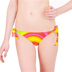 Swirl Yellow Pink Abstract Bikini Bottom