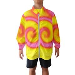 Swirl Yellow Pink Abstract Windbreaker (kids)