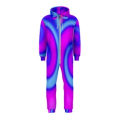 Swirl Pink Turquoise Abstract Hooded Jumpsuit (kids)