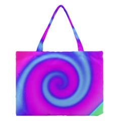 Swirl Pink Turquoise Abstract Medium Tote Bag