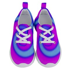 Swirl Pink Turquoise Abstract Running Shoes by BrightVibesDesign