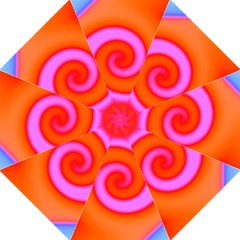 Swirl Orange Pink Abstract Straight Umbrellas