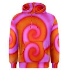 Swirl Orange Pink Abstract Men s Pullover Hoodie