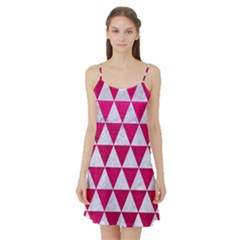 Triangle3 White Marble & Pink Leather Satin Night Slip
