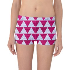 Triangle2 White Marble & Pink Leather Boyleg Bikini Bottoms