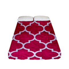 Tile1 White Marble & Pink Leather Fitted Sheet (full/ Double Size)
