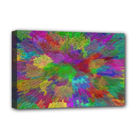 Colorful Patern Art Rainbow Deluxe Canvas 18  X 12