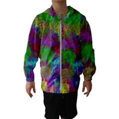 Colorful Patern Art Rainbow Hooded Windbreaker (kids)