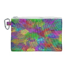 Colorful Patern Art Rainbow Canvas Cosmetic Bag (large) by goodart