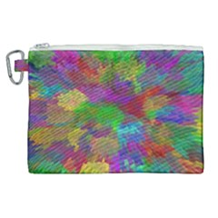 Colorful Patern Art Rainbow Canvas Cosmetic Bag (xl) by goodart