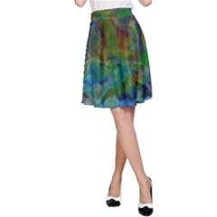 Rainbow Patern Color A Line Skirt