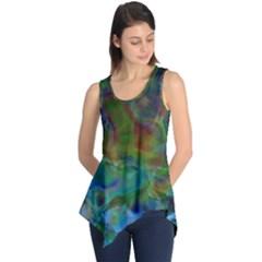 Rainbow Patern Color Sleeveless Tunic