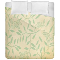Leaves Vintage Pattern Duvet Cover Double Side (california King Size)
