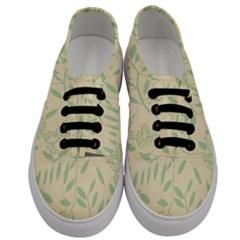 Leaves Vintage Pattern Men s Classic Low Top Sneakers