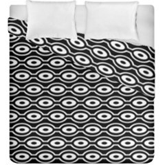 Retro Circles Pattern Duvet Cover Double Side (king Size)